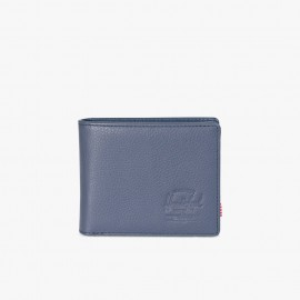 Cartera Hank Coin RFID Leather Navy