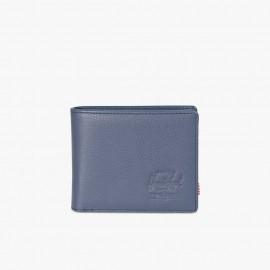 Cartera Hank Coin RFID Leather Navy