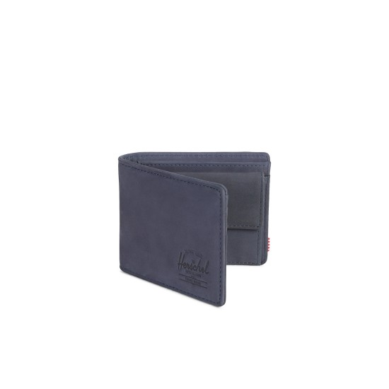 Hank Coin Wallet RFID Peacoat Leather