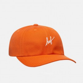Huf Script Curved Visor 6 Panel Hat Rust