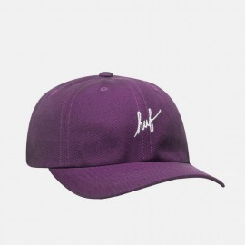 Gorra 6 panells Huf Script Curved Visor Purple Velvet