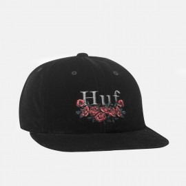 Bed Of Roses 6 Panel Hat Black