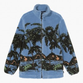 Polar Hawaiian Jacquard Mock Sweatshirt Blue