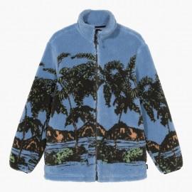 Hawaiian Jacquard Mock Sweatshirt Blue
