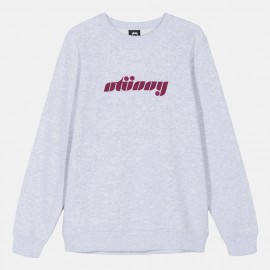 Sudadera Pretty Stüssy Crew Heather Ash