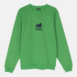 Sudadera Stüssy Lion Crew Kelly Green