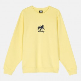 Stüssy Lion Crew Lemon