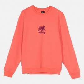 Dessuadora Stüssy Lion Crew Orange