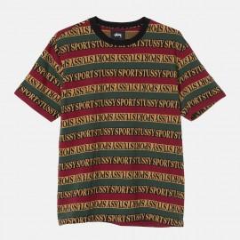 Camiseta Stüssy Stripe Crew Black