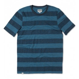 Channeled Crew Tee Blue Navy